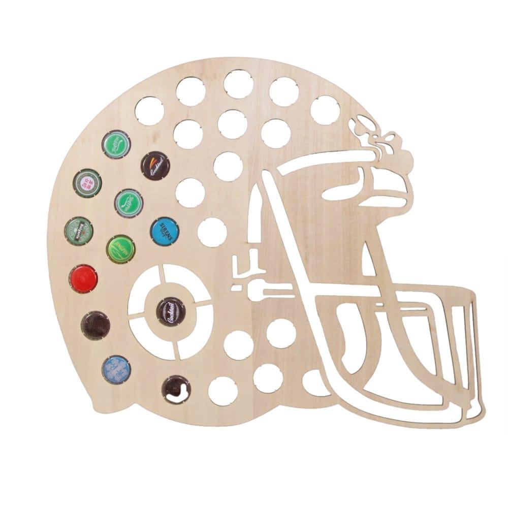 American Football Helmet Beer Cap Map
