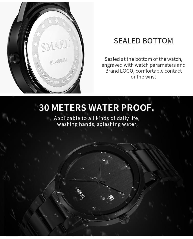 Stainless Steel 30m Waterproof Classic Double Set Wrist
