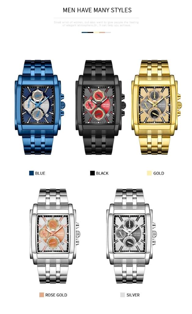 Men's Business Casual Dual Time Wrist Watch - 5 Colours