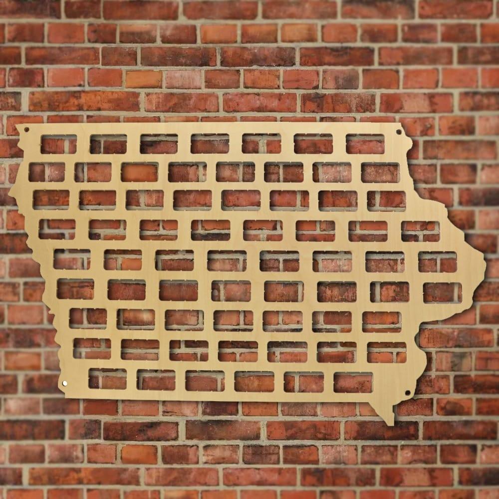 Iowa State Wine Cork Map