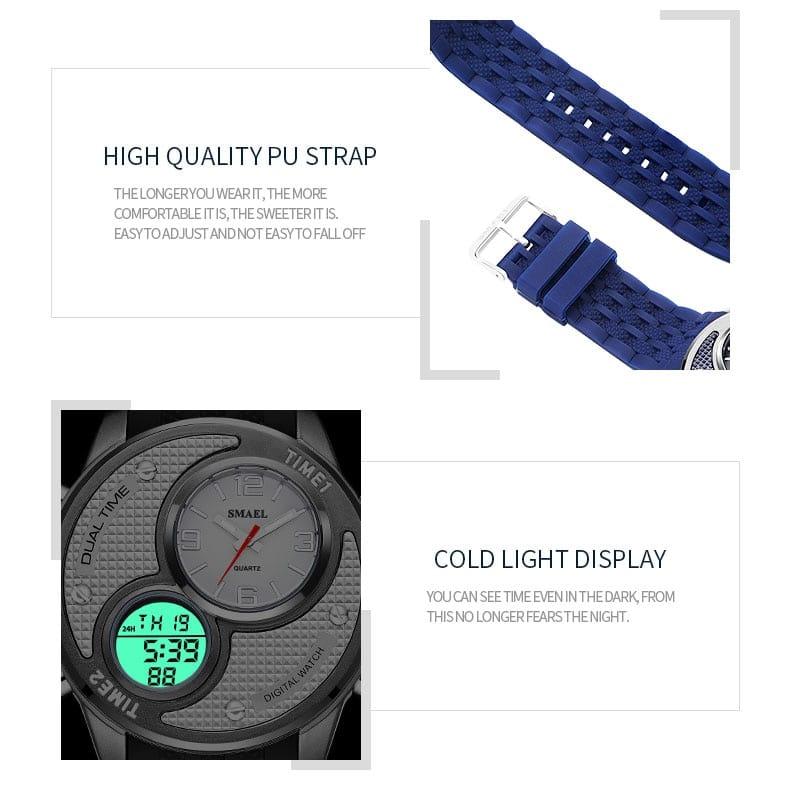 Multi-functional Alloy Waterproof Digital Wrist Watch - 4