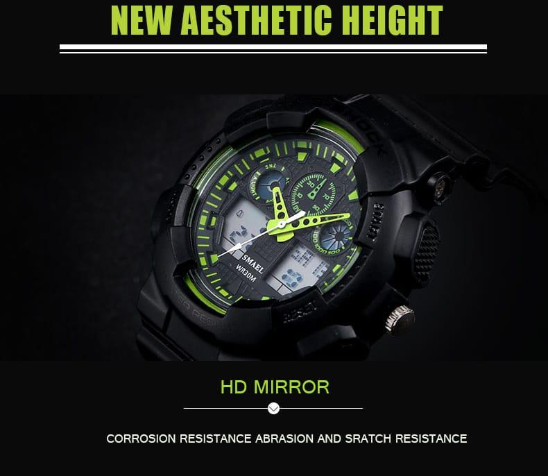 Sport Men's 50m Waterproof Digital Wrist Watch - 3 Colours