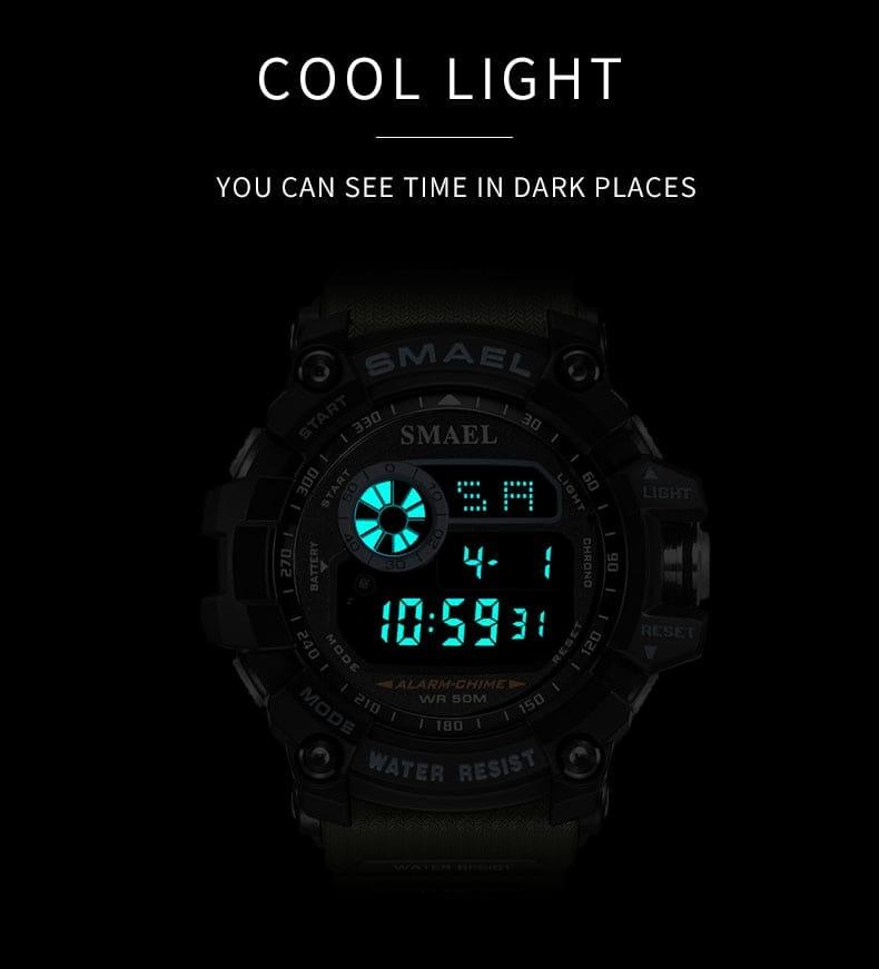 Men's 50m Waterproof Led Digital Sport Wrist Watch - 7