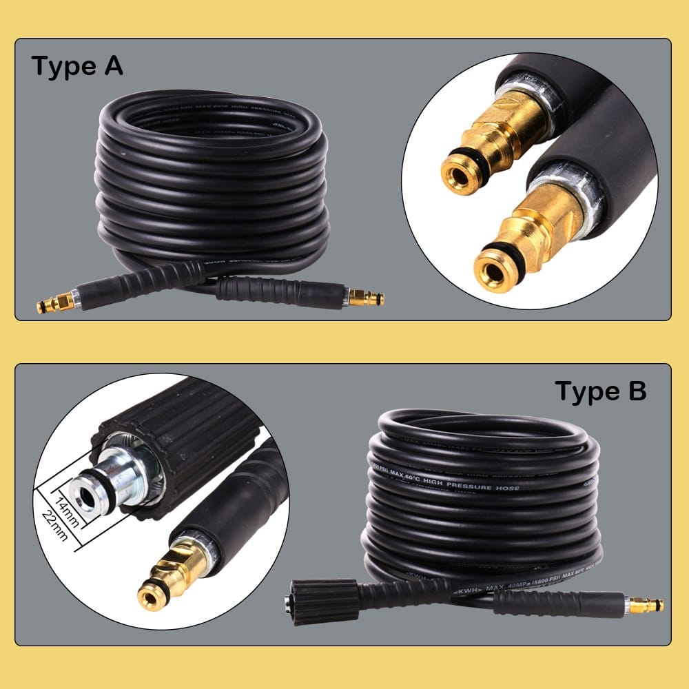 10m High Pressure Water Hose for Karcher K2 - K7 Series | 2