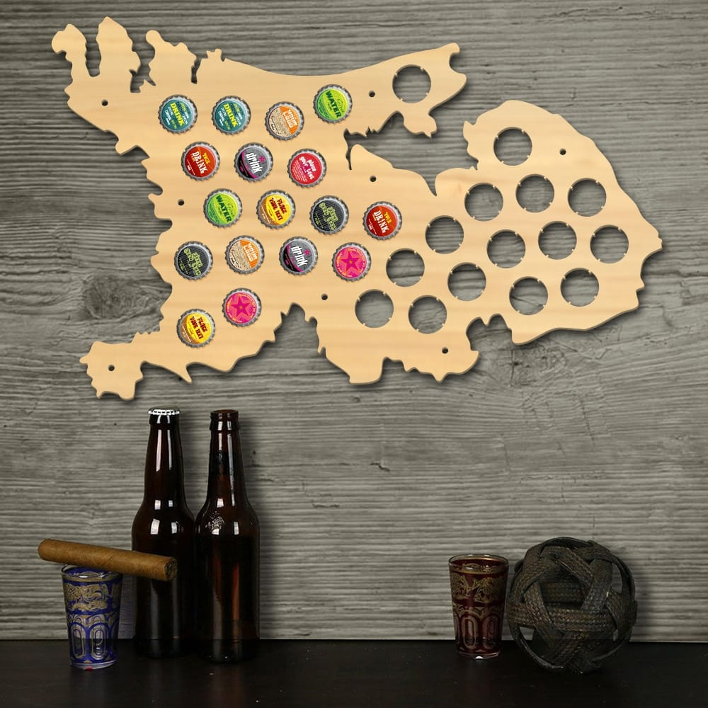 Netherlands Beer Cap Map