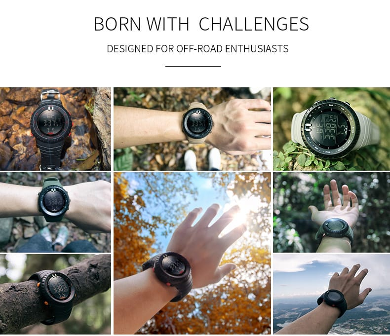 Men's 50m Waterproof Off-road Digital Dial Wrist Watch - 8
