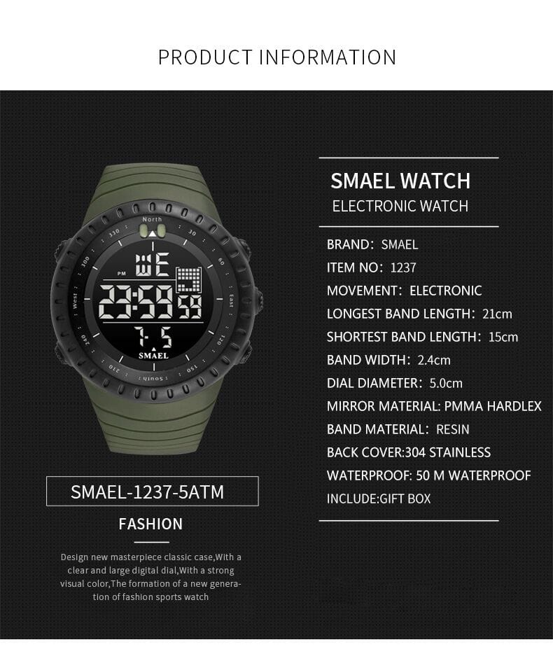 Men's Multi-functional Electronics Casual Sport Wrist Watch