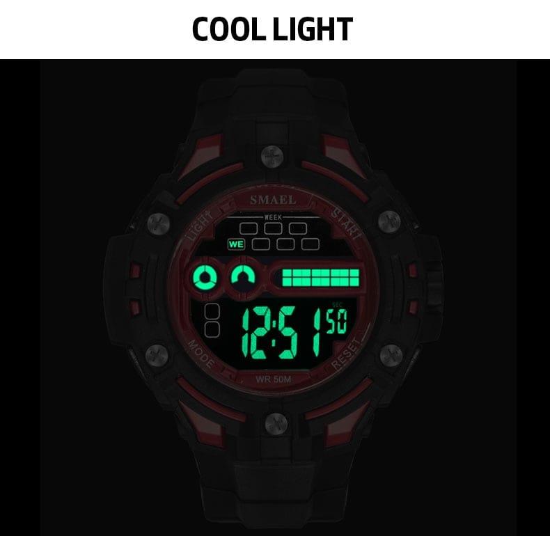 6 in 1 Men's 40m Waterproof Digital Led Wrist Watch - 6