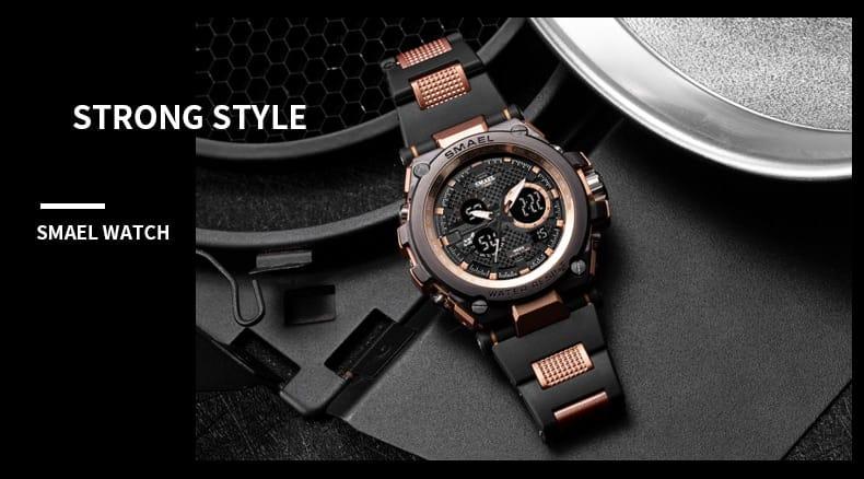 Men's Multi-functional Led Digital Wrist Watch - 7 Colours