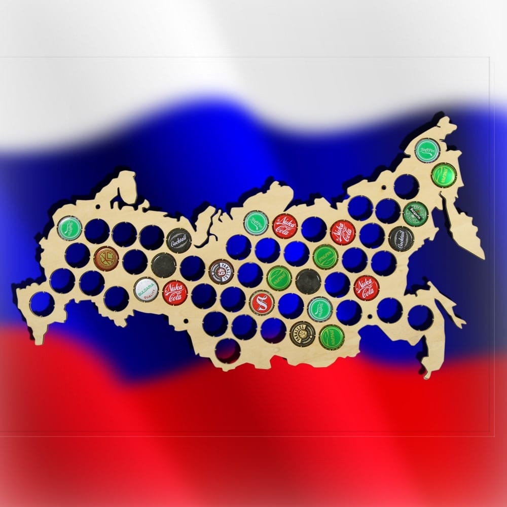 Russia Beer Cap Map