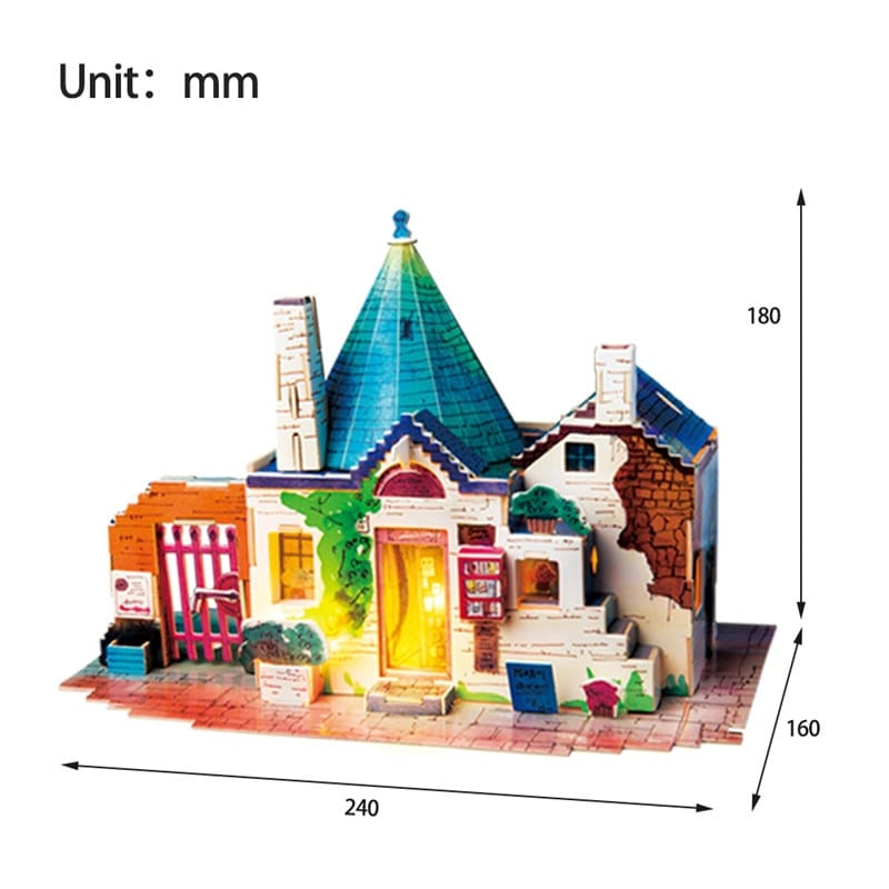 Diy Doll House with Led Light Children Adult Wooden Dall