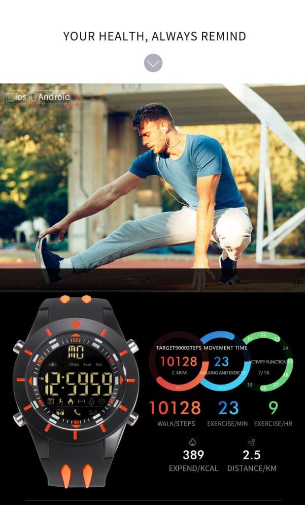 Multi-functional Waterproof Led Display Sport Digital Wrist