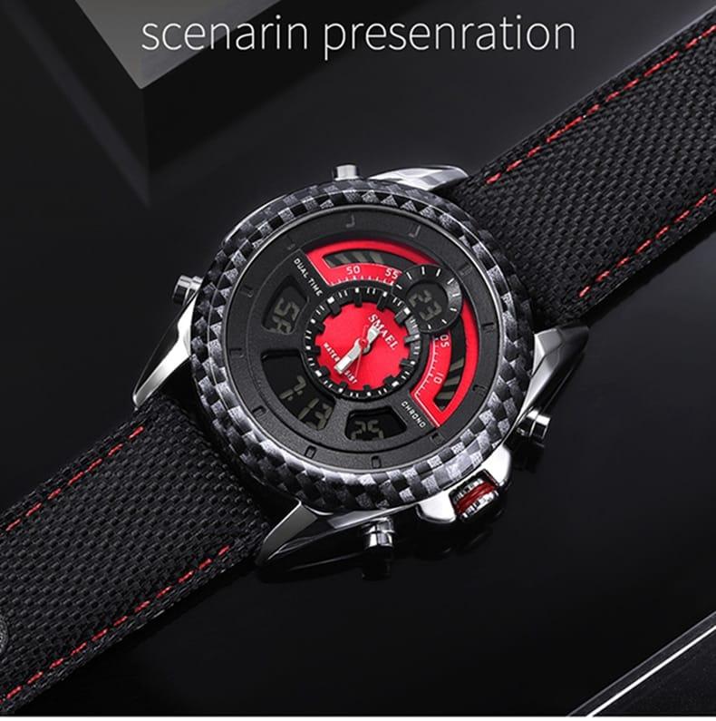 8 in 1 Men's 30m Waterproof Led Digital Wrist Watch - 6