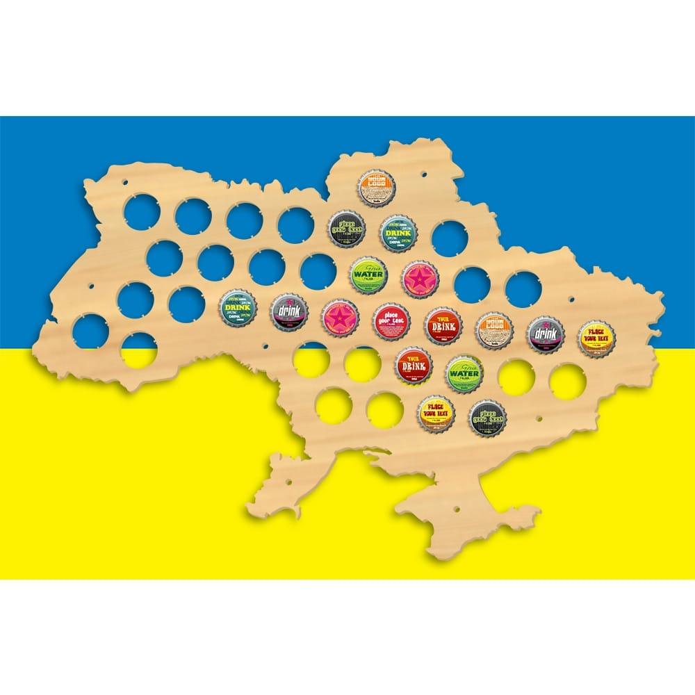 Ukraine Beer Cap Map