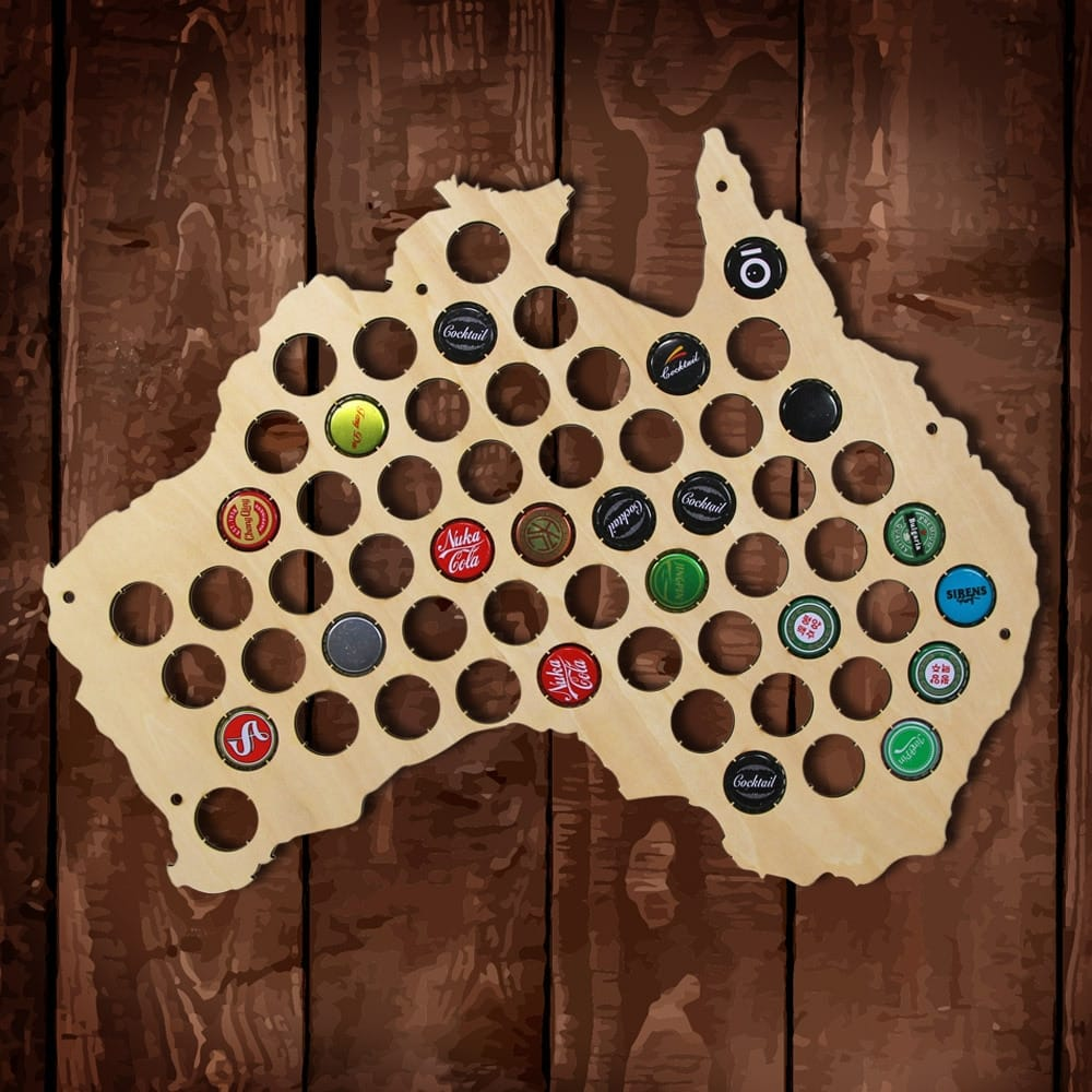 Australia Hanging Wooden Map