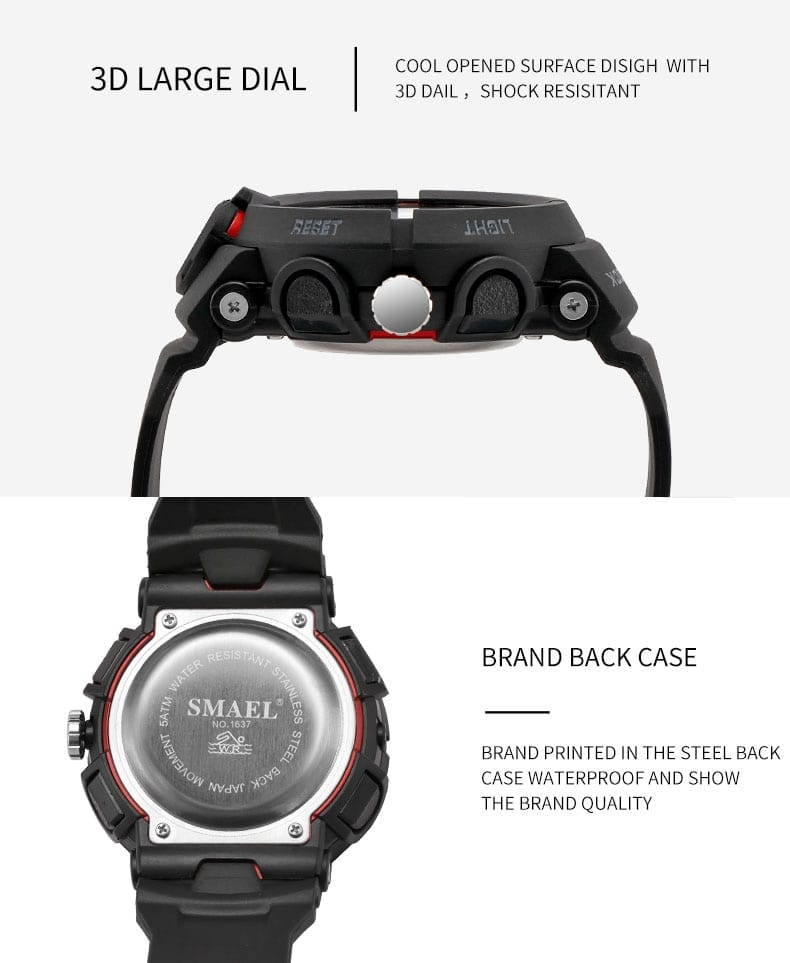 Men's Casual Electronics Wrist Watch with Digital Display -