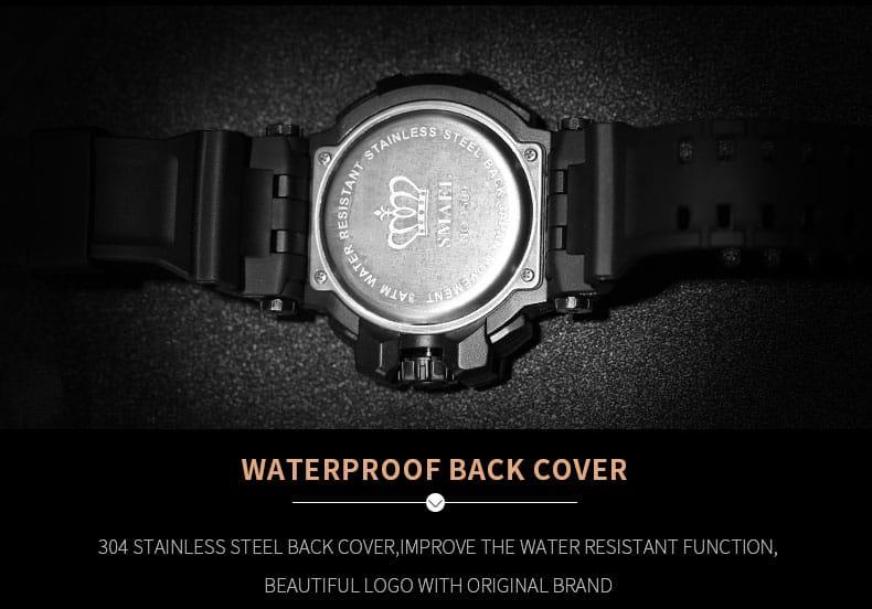Multi-functional 50m Waterproof Men's Led Digital Sport